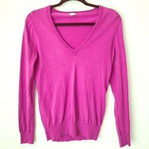 Women's J. Crew 100% Cotton V-neck Sweater Size M